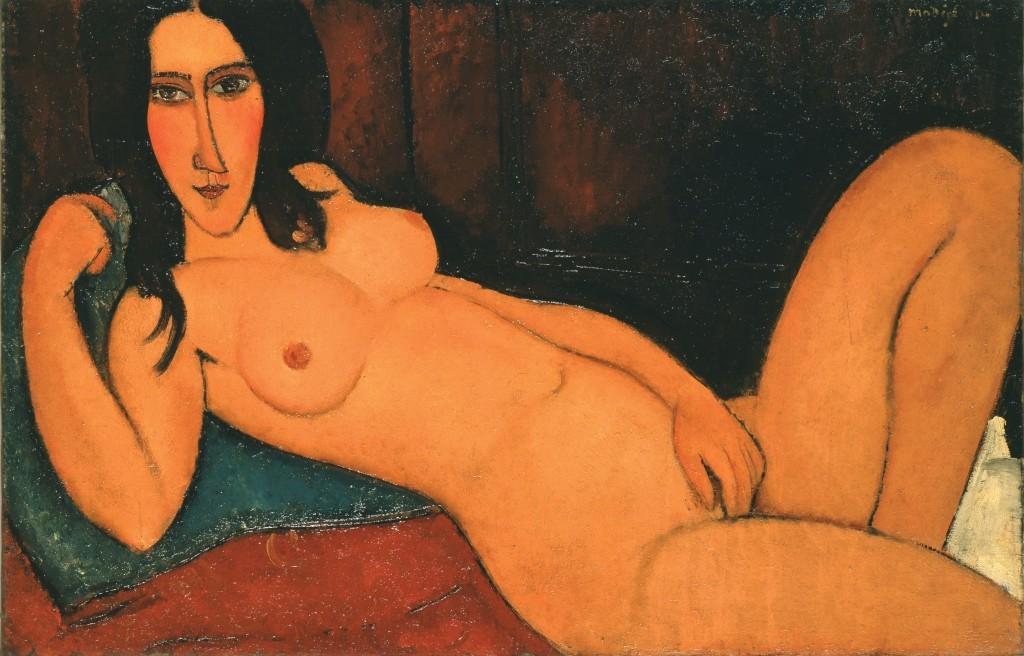 Modigliani_Fekvo akt kibontott hajjal 1917 (2)
