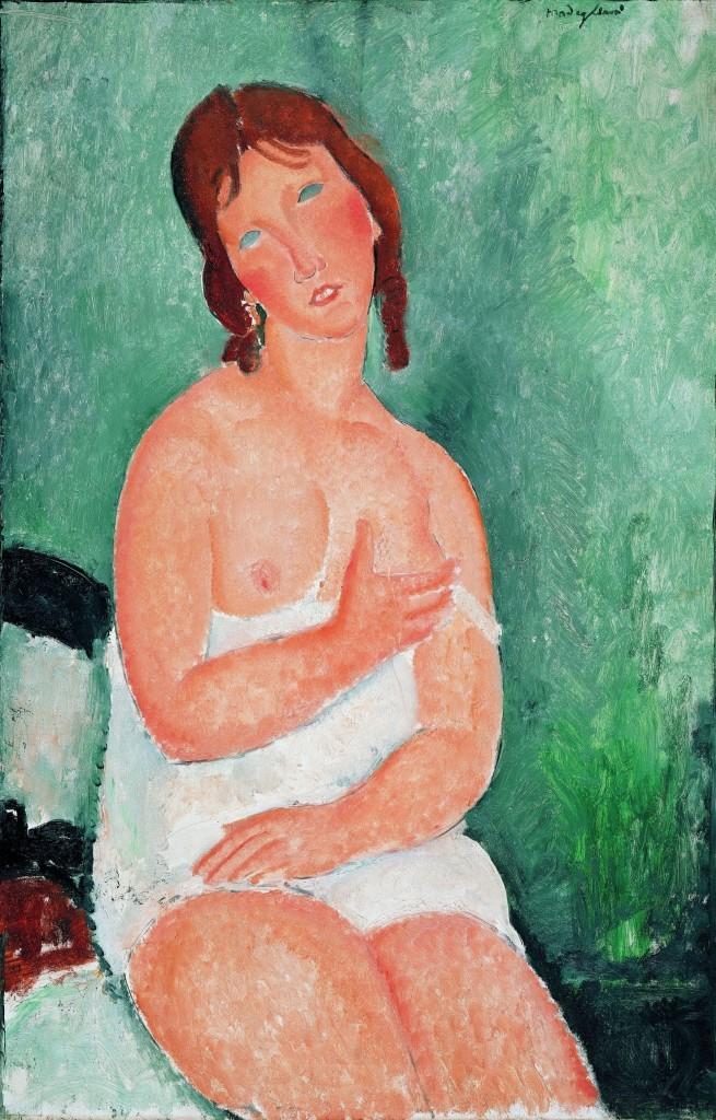 Modigliani_Fiatal no ingben 1918