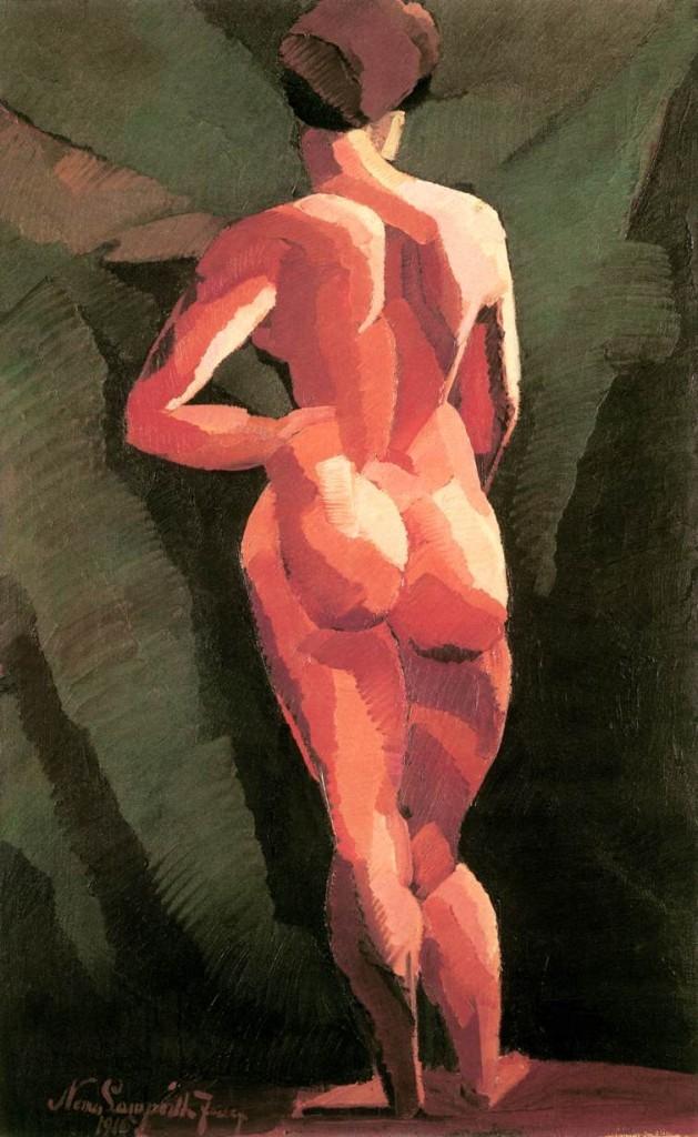 Nemes_Lampérth_József_painter_Nude,_back_view_1916