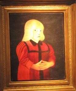 Csontváry-piros ruhás lány