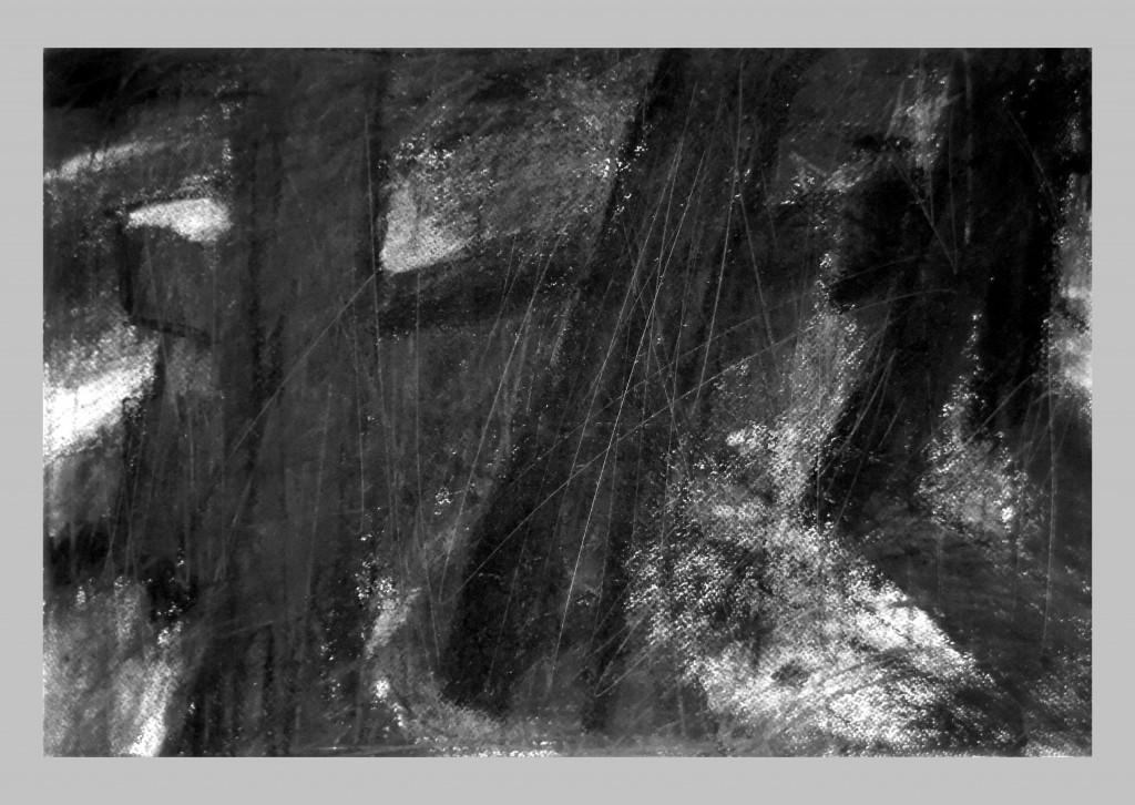 Arles,Les Alyscamps,szén,papir,32x46,6 cm. 2014