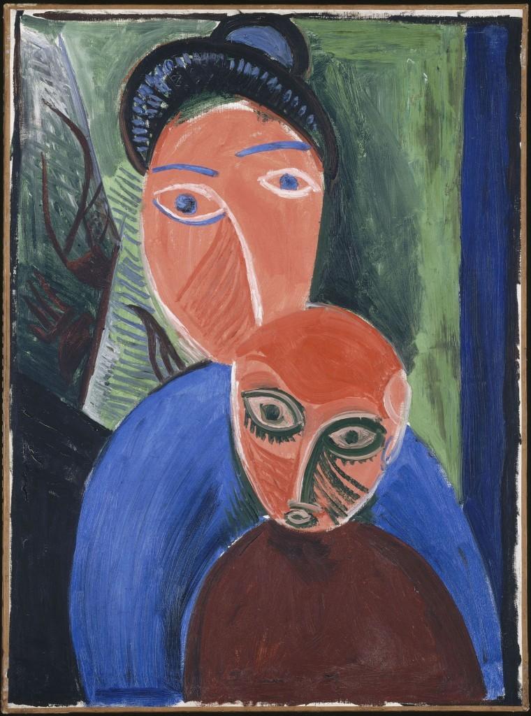 Pablo Picasso_ Anya és gyermeke 1907