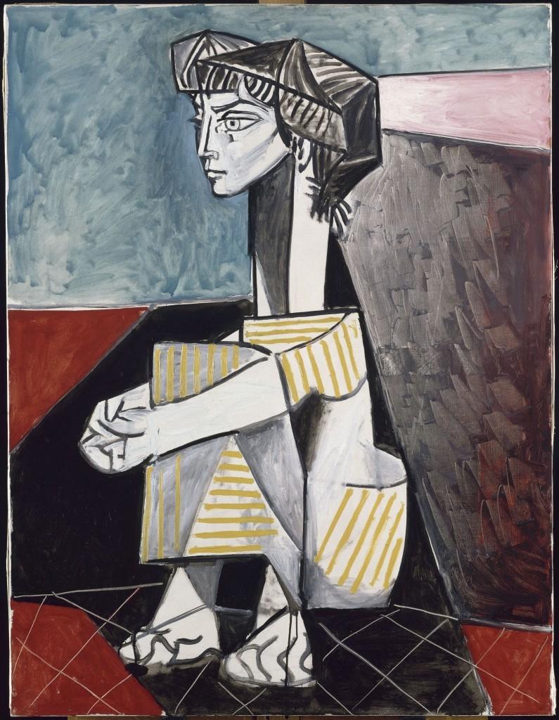 Pablo Picasso_ Jacqueline összetett karral 1954