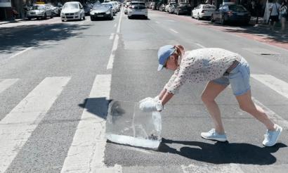 Jégtolás Budapest utcáin